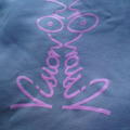 Vision On t-shirt Ladies dove grey / pink