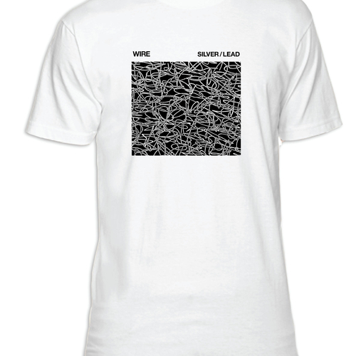 Wire Silver/Lead T-shirt (white)