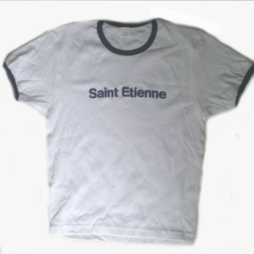 Saint Etienne - 'Limited Edition' Ladies White With Blue Piping Tee