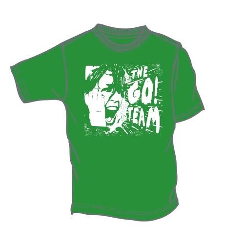 The Go! Team - Woman's Green Scream T-shirt