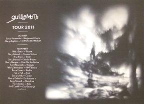 A1 Guillemots 2011 Tour Poster