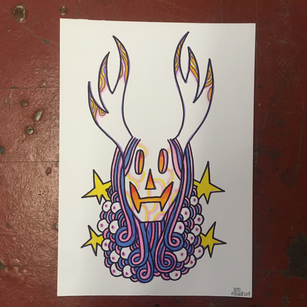 Horned drawing