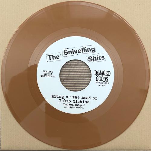 "The Snivelling Shits - Bring Me The Head Of Yukio Mishima - LIGHT BROWN VINYL 7"""
