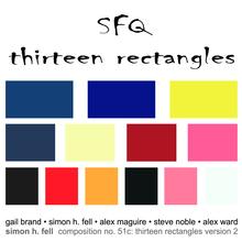 Thirteen Rectangles