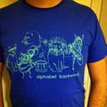 Alphabet Backwards Shirt Blue