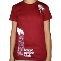 Tokyo Police Club - Red Tokyo Police Club 'Artwork' T-shirt