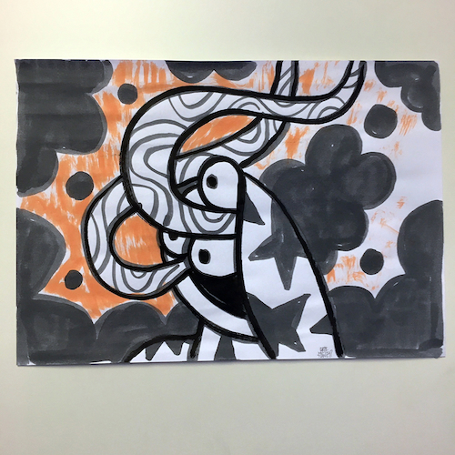 Grey Boi 2 drawing