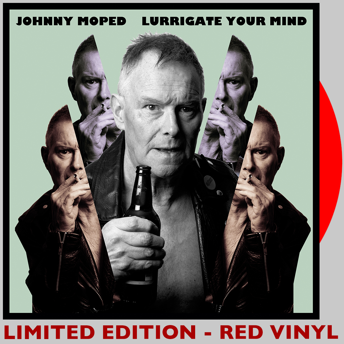 Johnny Moped - Lurrigate Your Mind - RED VINYL LP