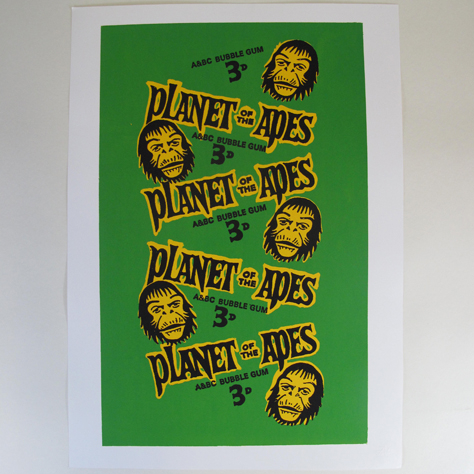 Planet Of The Apes Bubblegum Screenprint
