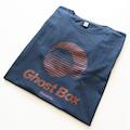 Ghost Box T-shirt (blue-grey & orange)
