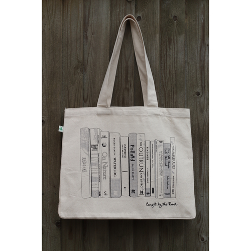 Book Spines Heavyweight Tote Bag