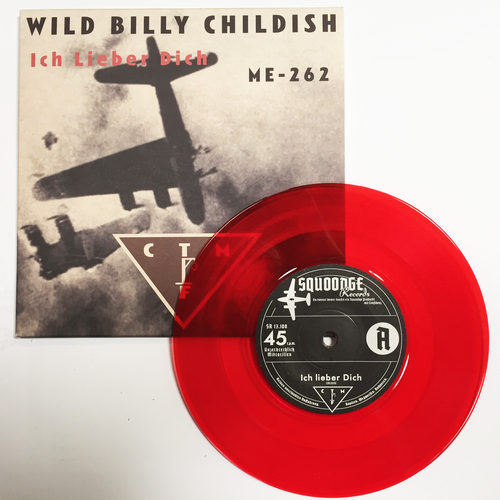 """Billy Childish, CTMF - CTMF - Ich Lieber Dich / ME-242 - Limited edition RED VINYL 7"""" on Squoooge Records, Germany"""