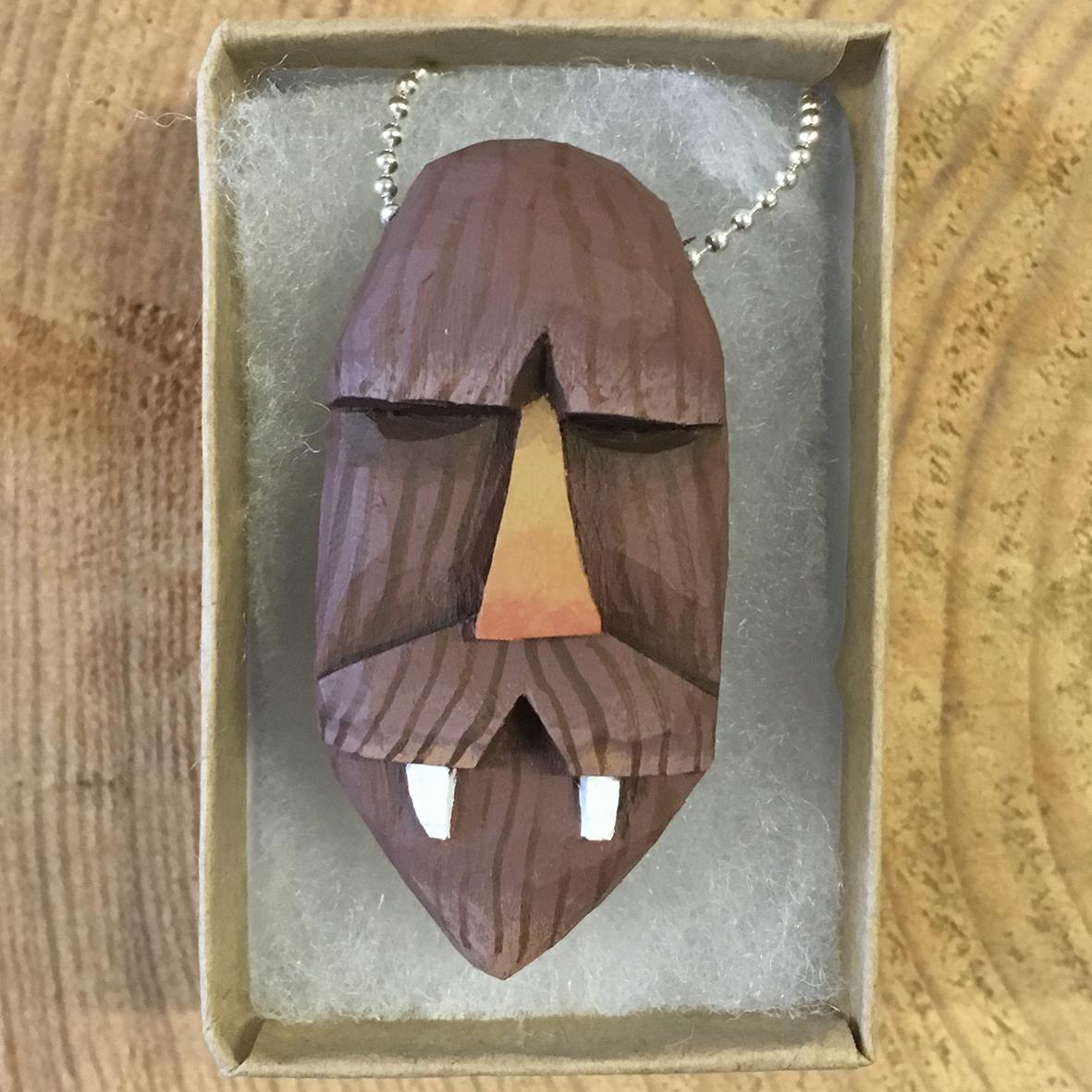Bigfoot 3 wooden pendant