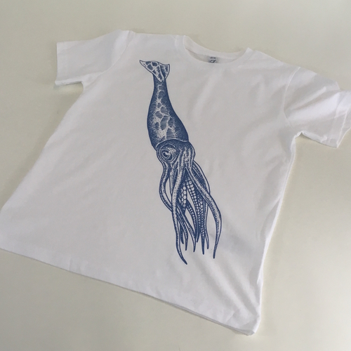 20,000 Leagues White Squiddy Kiddy Tattoo Tee