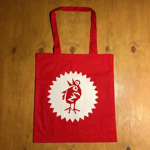 Heavenly Bird Red Tote Bag