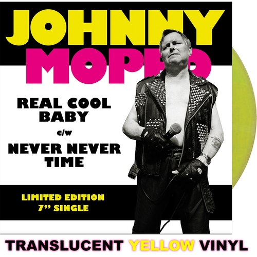 "Johnny Moped - Real Cool Baby 7"" (Yellow vinyl)"