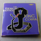 The Senior Service - King Cobra ENAMEL BADGE (PURPLE)