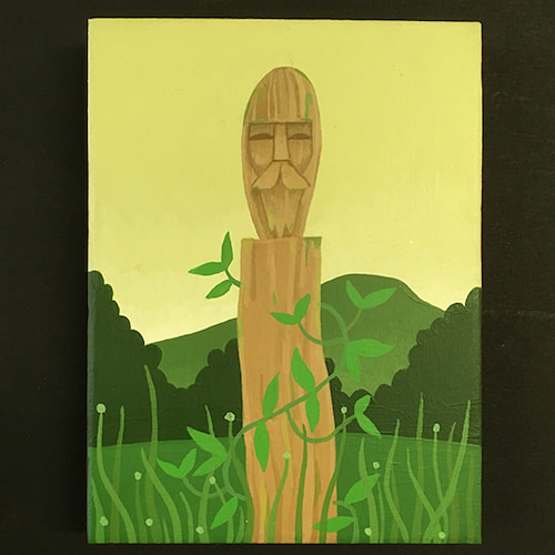 Table Mountain Totem painting