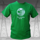 The Advisory Circle - White on Green T Shirt