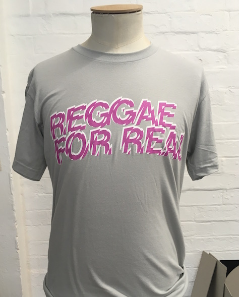 REGGAE FOR REAL TEE - SILVER
