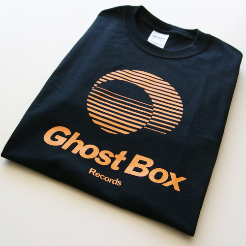 Ghost Box T Shirt (Black & Amber)