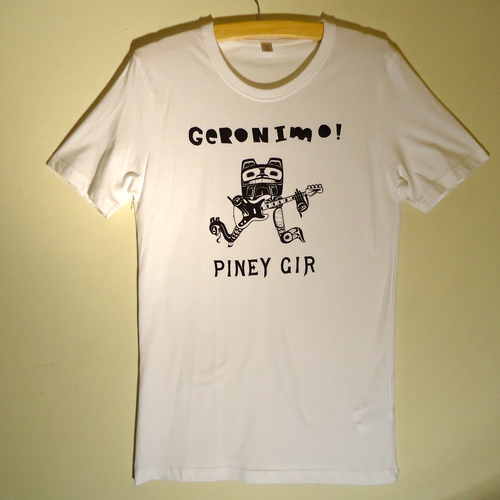 Piney Gir - Geronimo! black on white t-shirt