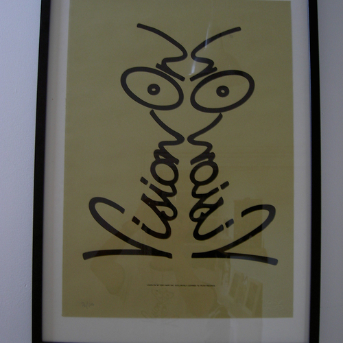 Vision On Screen Printed Poster - Mustard