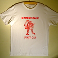Geronimo! red on white t-shirt