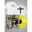 Popular Music Yellow LP + Logo T-shirt bundle