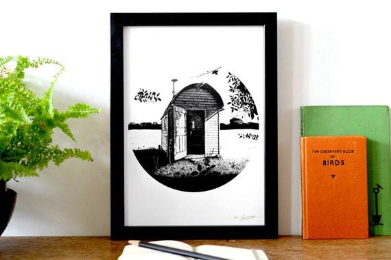 Roger Deakin's Shepherd's Hut - A4 print