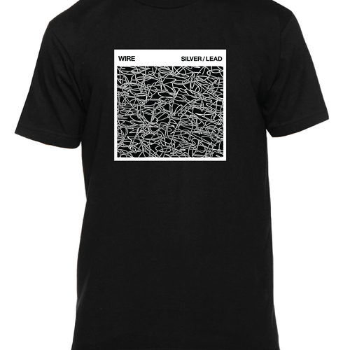 Wire Silver/Lead T-shirt (black)