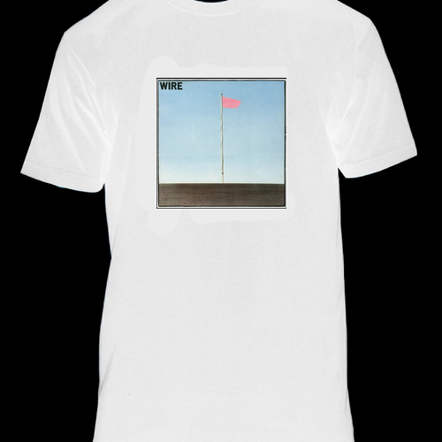 Wire - Pink Flag White T-shirt