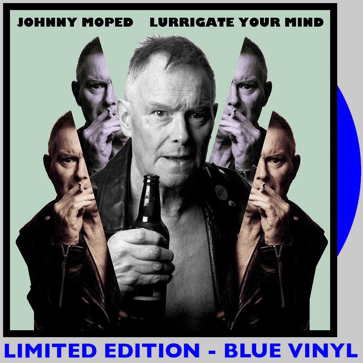 Johnny Moped - Lurrigate Your Mind - BLUE VINYL LP
