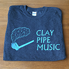 Clay Pipe T-Shirt in Dark Grey (new design).