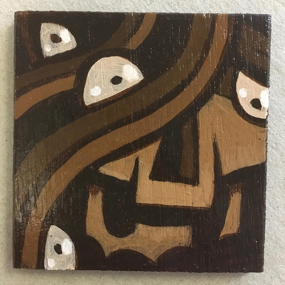 Umber Skull 2 painting