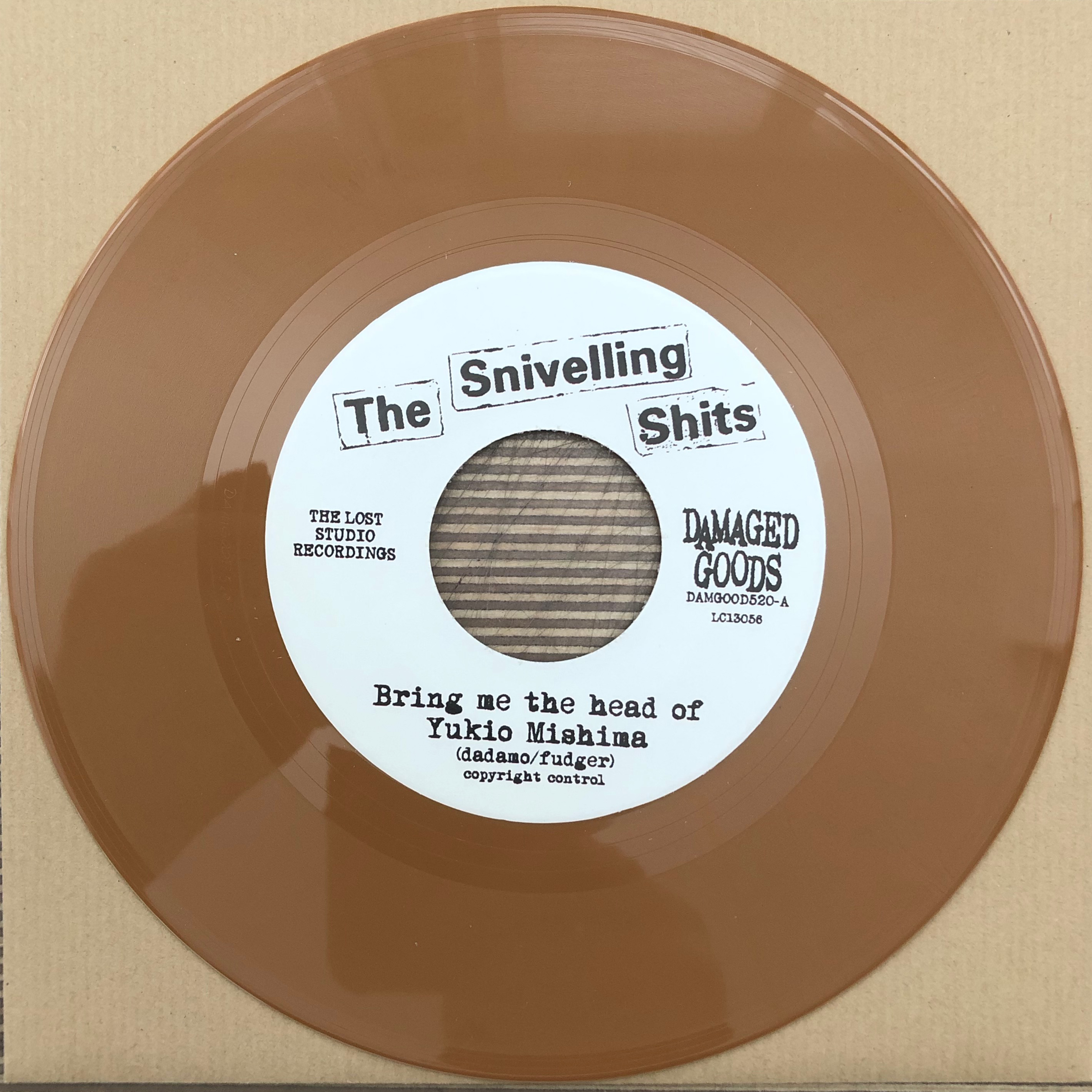 The Snivelling Shits - Bring Me The Head Of Yukio Mishima - LIGHT BROWN VINYL 7""