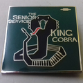 The Senior Service - King Cobra ENAMEL BADGE (GREEN)