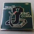 The Senior Service - King Cobra ENAMEL BADGE (GREEN)