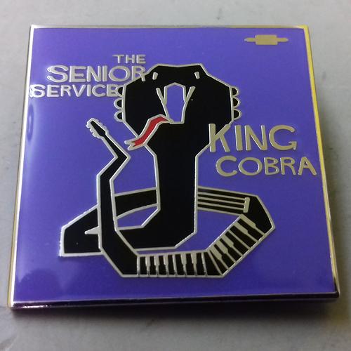 The Senior Service - The Senior Service - King Cobra ENAMEL BADGE (PURPLE)