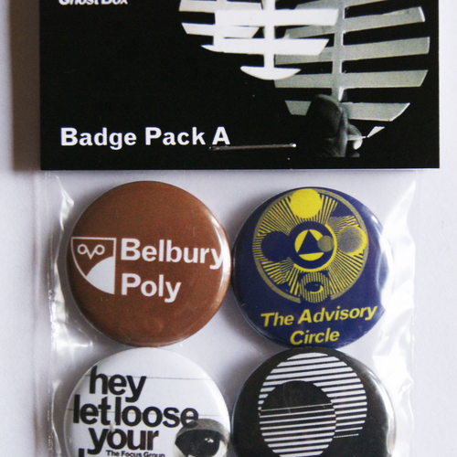 Belbury Poly, The Focus Group - Ghost Box Badge Pack A