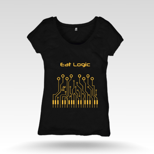 Lady's Black T Shirt