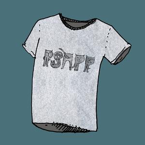 Psapp Cat Women's Grey T-Shirt