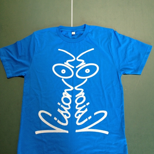 "Vision On ""Discharge"" Tee - Bright Blue"