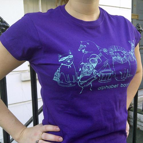 Alphabet Backwards Shirt Purple