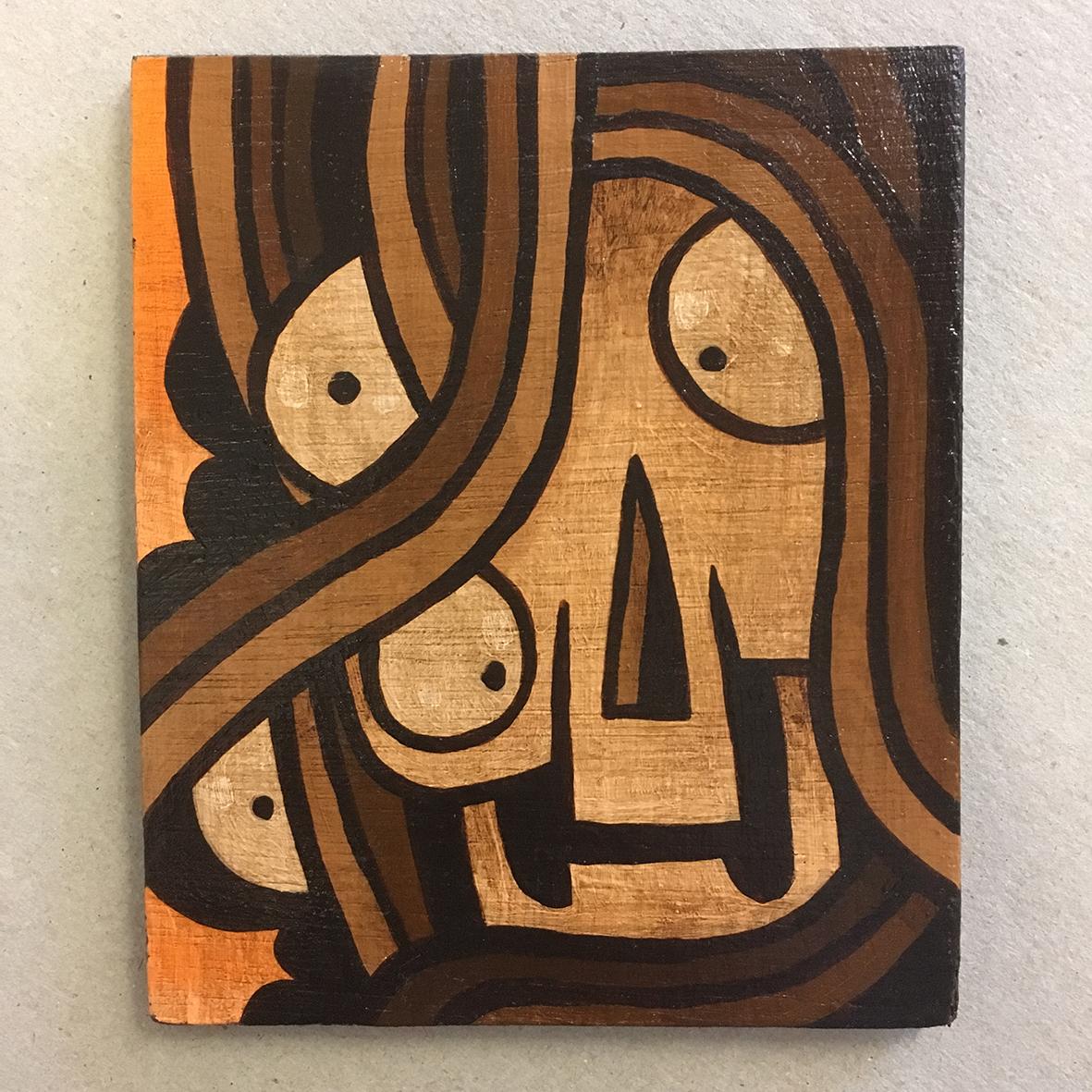 Umber Skull 3 painting