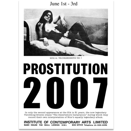 Throbbing Gristle - Prostitution 2007 Poster