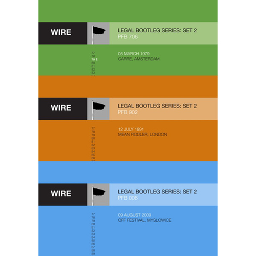 "Wire - Releases 6-8 in Wire's ""Legal Bootleg"" Download Series 2"