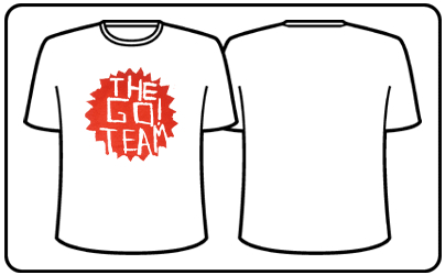 The Go! Team - Men's White Go! Team Logo T-shirt