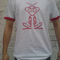 Vision On T-Shirt White and Red