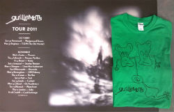 Guillemots 2011 Tour Poster & Green Doodle T-Shirt Bundle